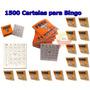 1.500 Cartelas Para Bingo