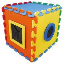 Brinquedo Infantil Cubo Tátil Em E.v.a, Escolar, C/nf