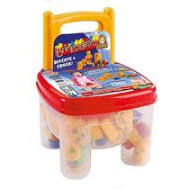 02 Cadeiras Infantil Blocos De Montar Tic Tac Dismat - Off!