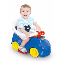 Andador Carrinho Azul Play Time Com Empurrador - Cotiplás