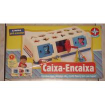 Brinquedo Caixa Encaixa - Estrela - Novo E Completo