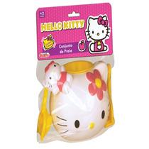 Conjunto De Praia Balde Hello Kitty - 5 Peças