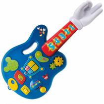 Guitarra Eletrônica Infántil Mickey Mouse Com Luz E Som - Im