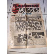 Jornal Ultima Hora - Flamengo Campeão Brasileiro 1980