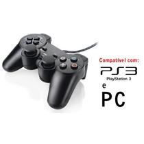 Controle Para Playstation 3 E Pc Computador Notebook Ps3