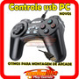 Controle Usb Joystick Pc Usb Serve Montar Kit Arcade