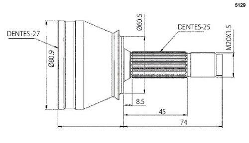Junta Homocinetica M. Benz B-200 / C-200 Vto5129