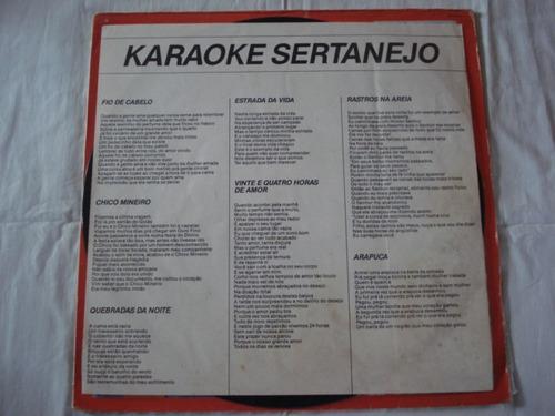 Karaokê-lp-vinil-karaoke Sertanejo-mpb