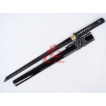 Espada Ninjato Afiada Aço Aisi 1095 Forjada Corte Ninja Real