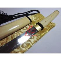 Espada Shirasaya Afiada Katana Com Corte Aço 1095 Forjada
