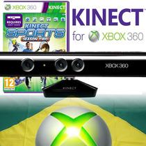 Kinect Sensor Xbox 360 Slim Orig. Novo + Jogo Original