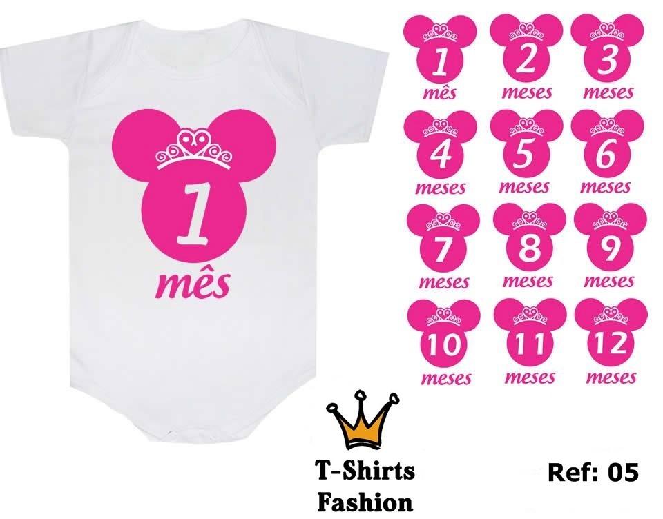 kit 12 body personalizado minie minnie   beb m s a m s   r 229 90