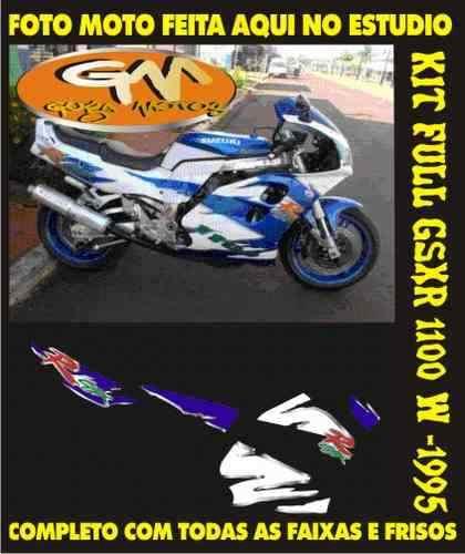 Kit Adesivo Completo Gsxr W 1993 A 1995 (azul & Branca)