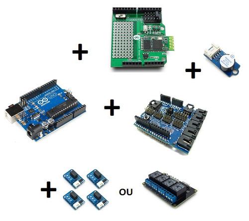 Kit arduino smarthome android e bluetooth disposit