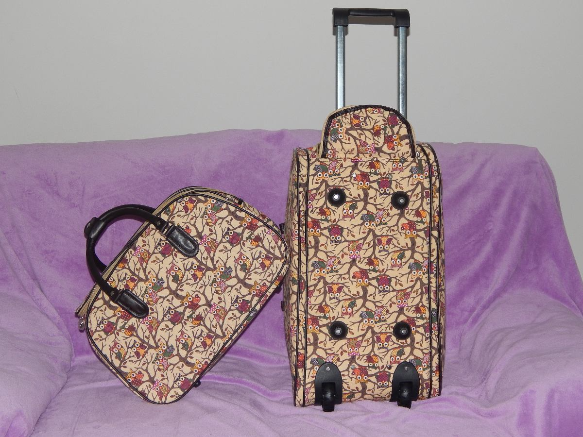 Bolsa De Viagem Feminina Rosa : Bolsa de viagem feminina com rodinha kit duas bolsas