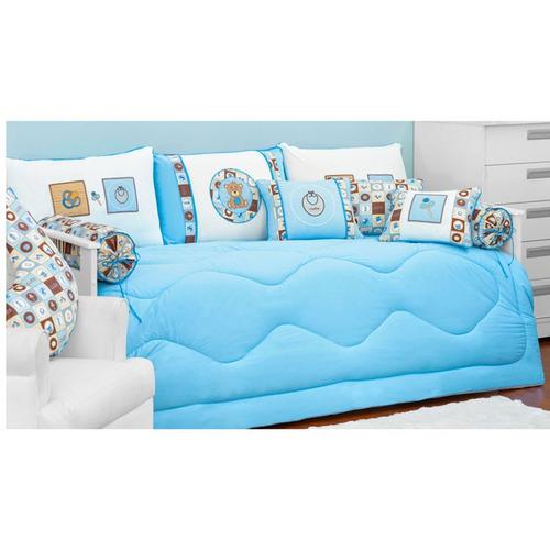 Kit de cama cute azul 06p s victor beby for Cama kawaii