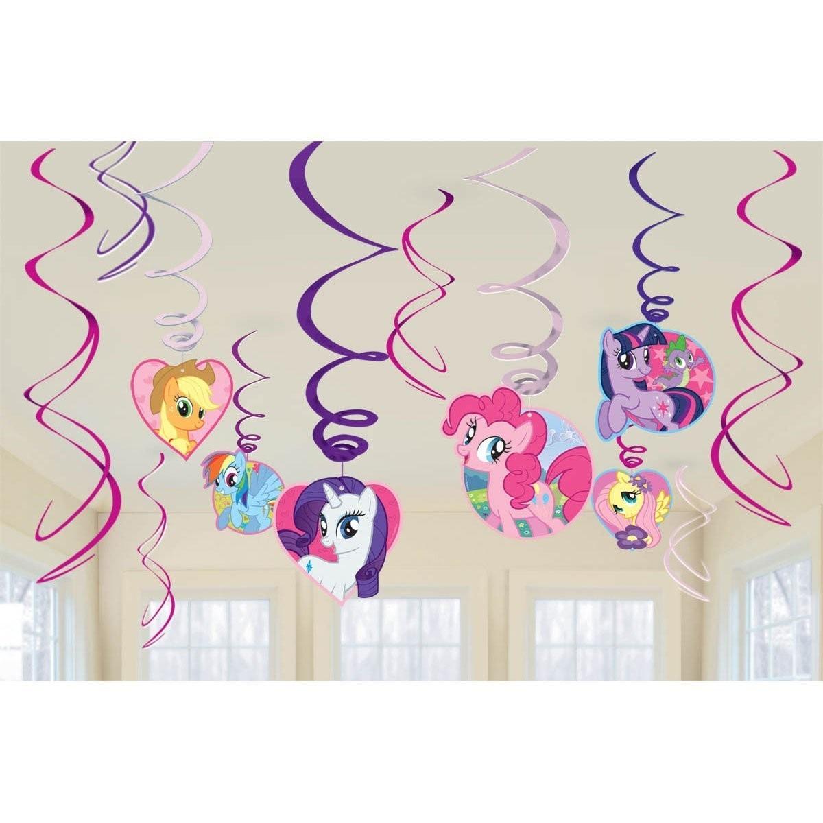 decoracao kit festa infantil:Kit Decoração Festa Infantil Com Painel My Little Pony – R$ 271,25