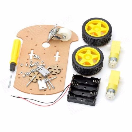 Kit educacional chassi robótico acrílico arduino