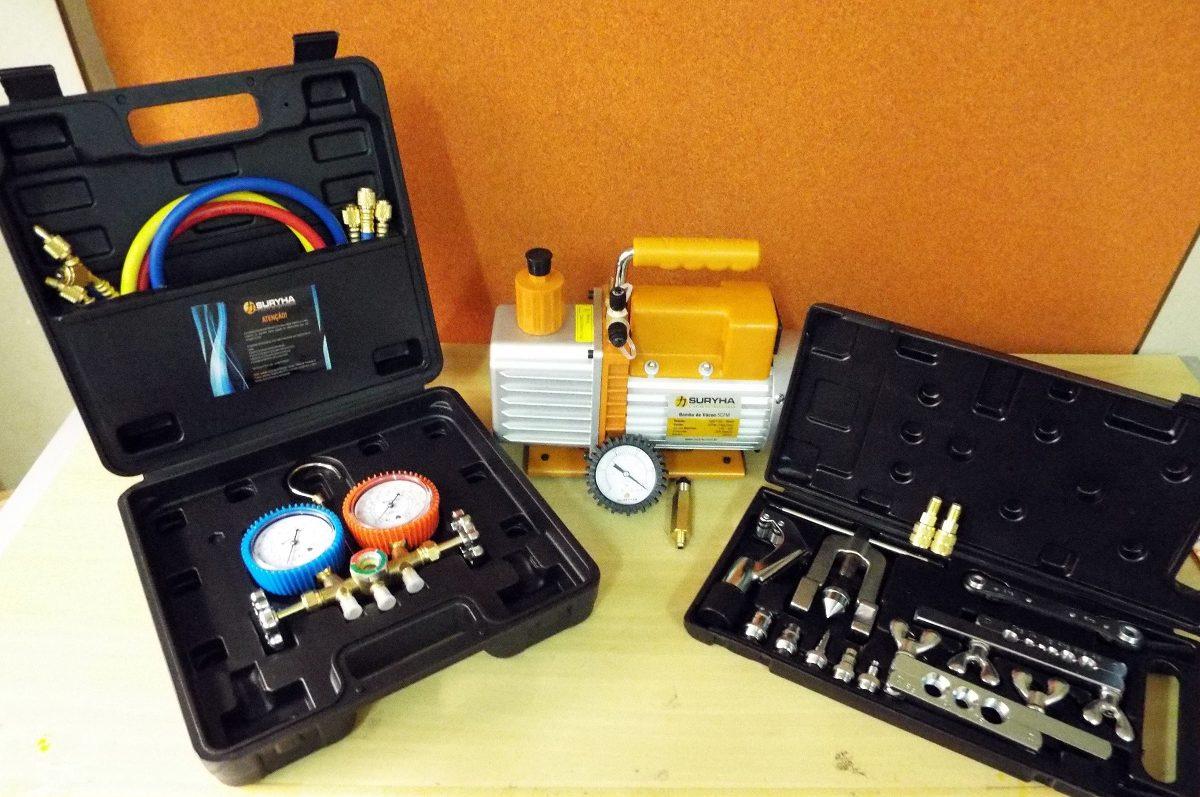 Kit Ferramentas P/ Refrigeração: Bomba De Vacuo Suryha R$ 907 89  #B99612 1200x797