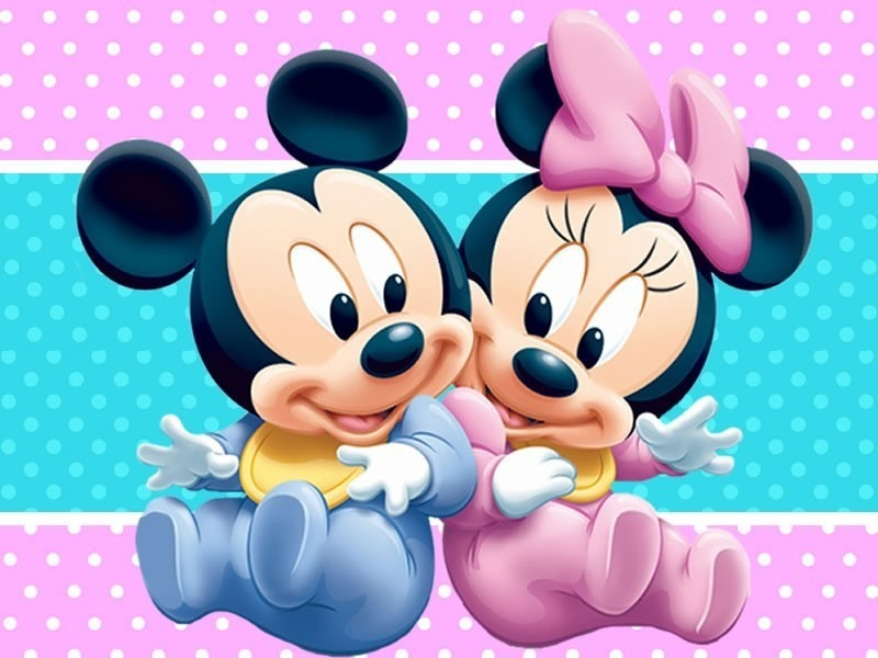 Kit Festa Provençal Minnie E Mickey Baby Arte Cartões E Mais - R$ 12