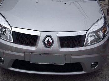 Kit Friso Borrachao + Aplique Cromado Grade Renault Sandero
