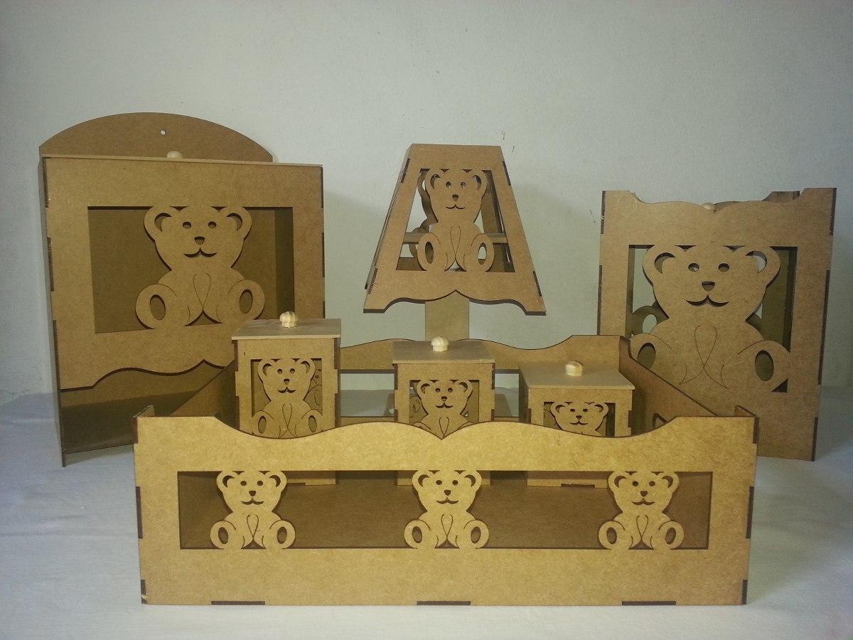 Adesivo De Parade Nuvem ~ Kit Higi u00eane Beb u00ea Urso 3d + 1 Kit Higiene Simples Mdf Cru R$ 95,70 no MercadoLivre