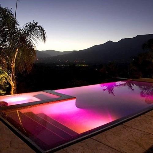 kit iluminacao jardim:Kit Iluminação Piscina 4 Refletor Leds + Controladora Combo – R$ 1