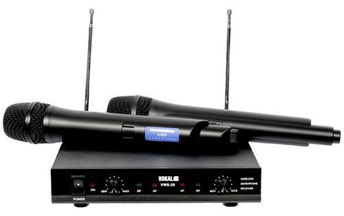 Kit Microfone Sem Fio Vws-20 De Mão Duplo Vokal