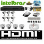 Kit Cftv Dvr Intelbras+hd+6cameras Infra 1000l/30m+fonte+cab