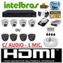 Kit 4 Cameras Infra Dome Dvr Intelbras 4 Canais 960h D1 + Hd