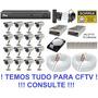 Kit Cftv 16 Cameras Infra Dvr 16 Canais Tecvoz Hibrido Hd 1t