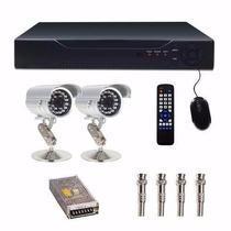 Kit Dvr 4 Canais + 2 Cameras Infra 1500l 1/3 Cod 346