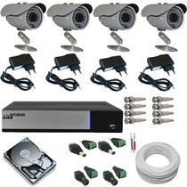 Kit De Câmeras De Monitoramento Residencial Com Dvr Ahd P2p