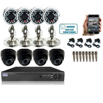 Kit 08 Câmeras P/ Segurança Residencial Ou Condominio