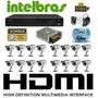 Kit Cftv 16 Cam Ccd Sony E Dvr 16 Canais Intelbras Hdmi