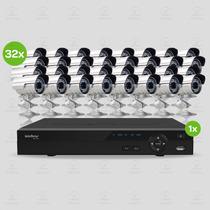 Kit Segurança Dvr Stand Alone Intelbras 32 Canais 32 Câmeras