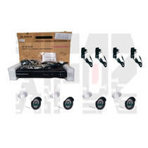 Kit Cftv Nvr 4 Canais + 4 Câmeras Ip 1.0mp Infra Wi-fi 30mts