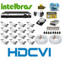 Kit 16 Camera Hdcvi 720p Hd Ir Dvr 16 Canais Intelbras Hdcvi
