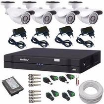 Kit Para Monitoramento Residencial Ou Comercial Dvr+câmeras