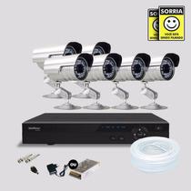 Kit Segurança Dvr Stand Alone 8 Canais Intelbras C/6 Cameras