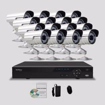 Kit Segurança Dvr Stand Alone Intelbras 16 Canais 16 Câmeras