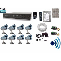 Kit Cftv 8 Cam Infra + Ir-cut Hd Dvr 16 Canais Com Audio