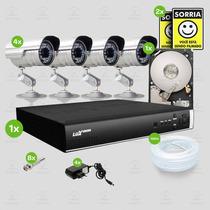 Kit Segurança Dvr Luxvision 4 Canais 1 Hd 4 Câmera Sony