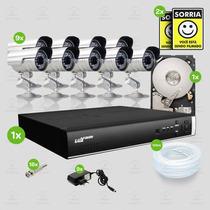 Kit Segurança Dvr Luxvision 16 Canais 1 Hd 9 Câmera Sony