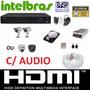 Kit 2 Cameras Infravermelho Dvr 4 Canais Intelbras D1 Com Hd