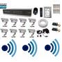 Kit Cftv 8 Cam Infra Verm. Hd 500gb Dvr 16 Canais Com Audio