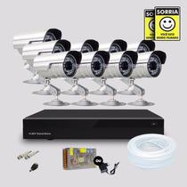 Kit Segurança Dvr Stand Alone 16 Canais 9 Câmera Infra Sony