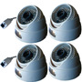 Kit 4 Câmera Dome Ip 1.3mp Hd Onvif 2.4 Compativel Intelbras