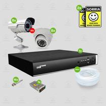 Kit Segurança Dvr Stand Alone 8 Canais Luxvision C/8 Cameras