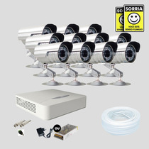 Kit Monitoramento Dvr Stand Alone 16 Canais Jfl 11 Cameras